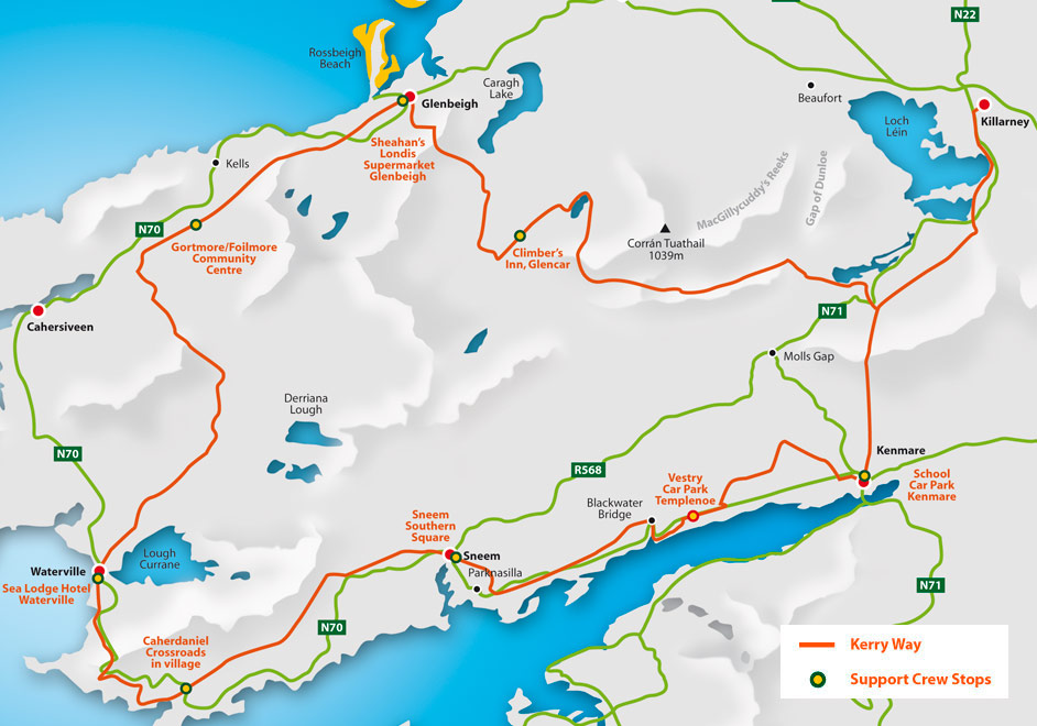 Kerry Ultra route map
